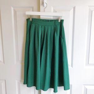 ModCloth Midi Swing Skirt [Clover]
